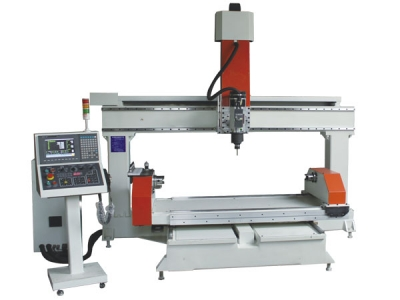 CNC 5 Axis Router, Rotary Table Horizontal, All Servo, Industrial Controller