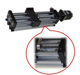 Linear Actuator THK90 - Ballscrew Slide Twin Round Shaft, 0.4meter