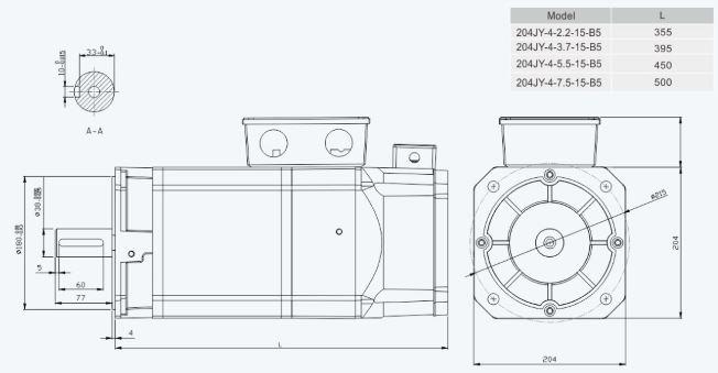 Flange Installation Dimension Unit=mm204sp