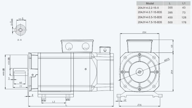Installation Dimension Unit=mm204sp