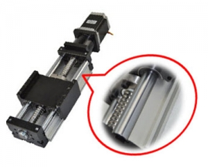 Linear Actuator DHK90 – Ballscrew Slide Twin Round Shaft, 0.6meter