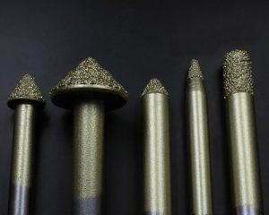 Smelting Diamond Lettering Cutter, Shank Diameter 6-20mm, Tip Diameter 1.5-8mm