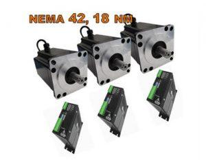 Stepping motor Nema 42 & Drive 80-220V 7.8A x 3 UNITS