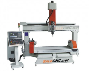 CNC 5 Axis Router, Rotary Table Horizontal, All Servo, Industrial Controller Net