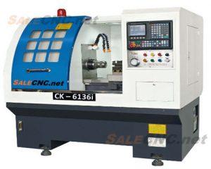 เครื่องกลึง CNC Lathe Turning Hydraulic Clamp รุ่น CK6136i