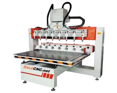 CNC Router 8 Heads and rotary