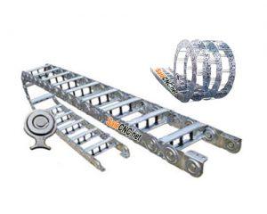 กระดูกงูแบบเหล็กร้อยสายไฟ Steel Cable Drag Chain